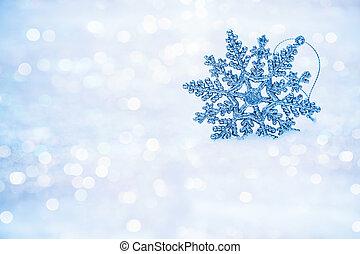 焦点がぼけている, 抽象的, 雪片, 上に, 雪, bokeh.