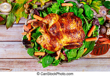 焼かれた, 皿, 他, トルコ, .thanksgiving, 手製, day.