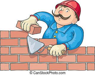 煉瓦工, 仕事