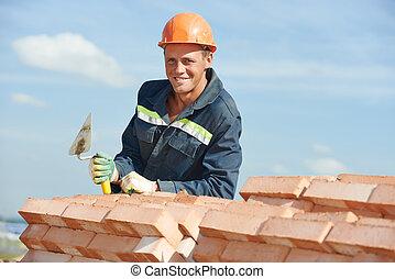 煉瓦工, 建築作業員