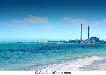 煙突, 海