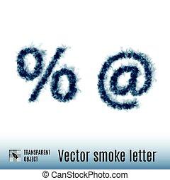 煙, 手紙