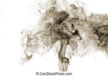 煙, 白, 隔離された, 背景