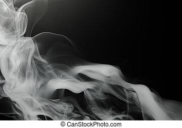 煙, 背景, 上, 黑色