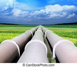 煤气管, 線