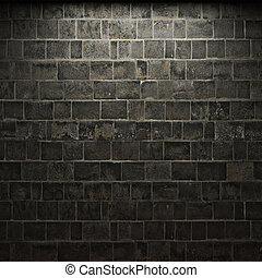 照らされた, 石の壁