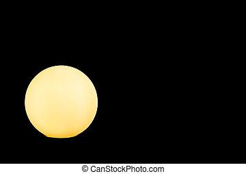 照らされた, 黒い背景, 黄色, 地球