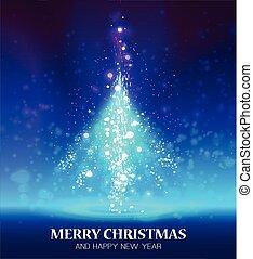 照ること, クリスマス, 木。
