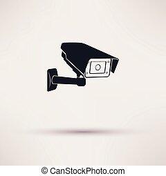 照像機, 小時, 安全, 監視照像机, 或者, cctv