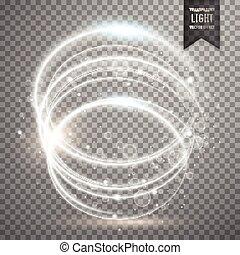 照明効果, 背景, 白, 透明, 円