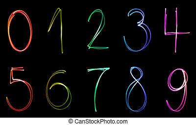 照明, 數字