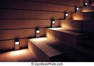 照明, 樓梯