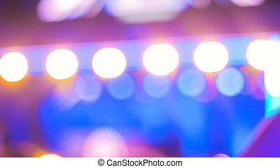 照明, 焦点がぼけている, コンサート