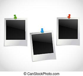 照片框架, 由于, pushpins