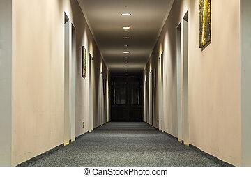 照片, 在中, 空, 通道, 走廊, 在中, 奢侈, 房子