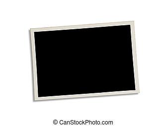 照片, 老, 隔离, white., 剪下的资料, included., 路径