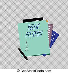 照片, selfie, 纸, folder., 菘蓝染料, 图画, 作品, 概念性, 显示, 部分, 本身, 商业,...