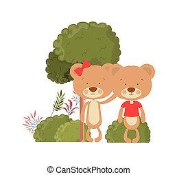 熊, かわいい, 恋人, 愛