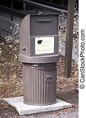 熊, 垃圾箱