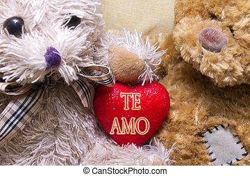 熊, 心, テディ