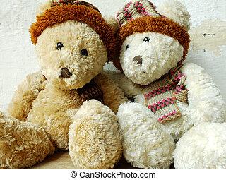 熊, 恋人, ロマンチック, テディ