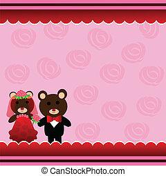 熊, 結婚式, テディ