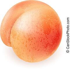 熟した, 桃, おいしそうである