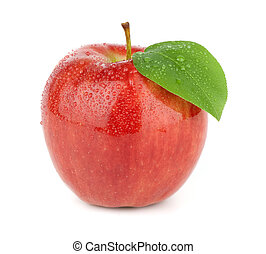 熟した, 赤いリンゴ