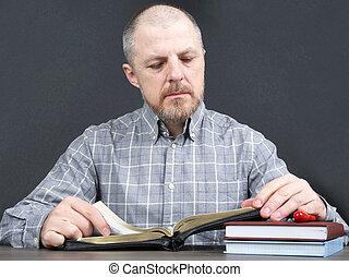 熟考する, 聖書, 本, 男示数