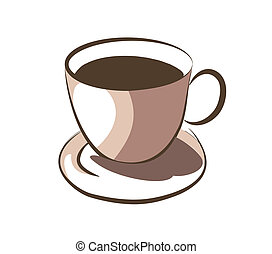 熱い コーヒー, カップ