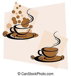 熱い コーヒー