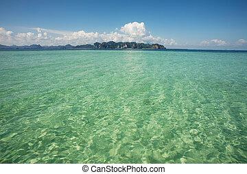 熱帯の水, 空, 背景
