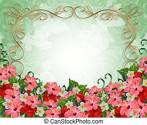 熱帯の結婚式, 花, 招待
