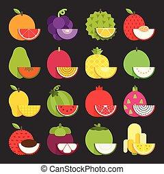 熱帯 フルーツ, アイコン