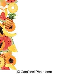 熱帯 フルーツ, 背景