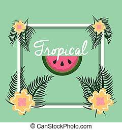 熱帯 フルーツ, 花