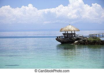 熱帯 島, 小屋