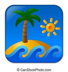 熱帯 島, 浜
