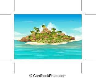 熱帯 島, 背景