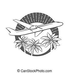熱帯 島, 飛行機, 飛行