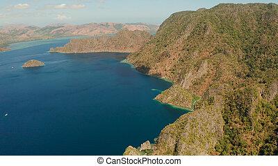 熱帯 島, busuanga, palawan, フィリピン。