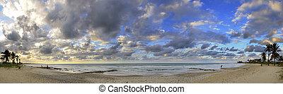 熱帯 浜, パノラマである, ∥において∥, 日没, キューバ
