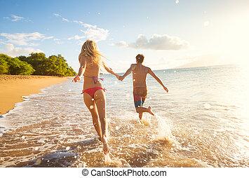 熱帯 浜, 偶力日の入, 幸せ