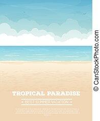 熱帯 浜, 旗, 休暇
