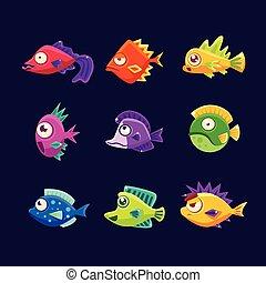 熱帯 魚, カラフルである, コレクション