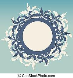 熱帶, 框架, 棕櫚, 輪, 樹