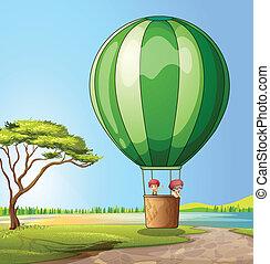熱, balloon, 空氣