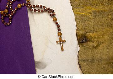 燃やされる, カトリック教, 古い, 交差点, 羊皮紙