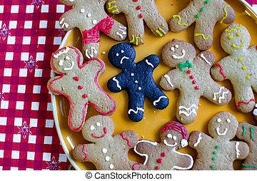 燃やされる, gingerbread, クローズアップ, クリスマス, 悲しい