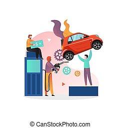 燃料を補給すること, ベクトル, ウェブサイト, 旗, 概念, ページ, 網